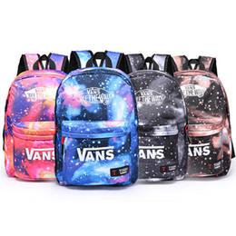 space backpacks 2019 - Unisex Backpack Galaxy Stars Universe Space Backpack Rucksack School Backpacks Outdoor Bag Travel bag 4 Colors DHL Shipp