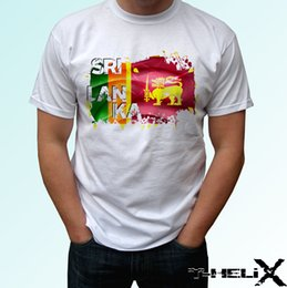 Country flag red white blue online shopping - Sri Lanka flag white t shirt top country design mens womens kids baby sizes funny gift Short Tops Round Neck Tees short Sleeve T Shirt