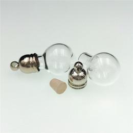 vial charms 2019 - 50pieces 22x12mm ball glass vial pendant glass ball pendant bottle necklace charms cute mini wishing bottle cheap vial c