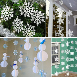 bulk charms 2019 - 12 pcs Christmas Tree White Snowflake Charms Holiday Party Festival Ornaments Decor Bulk Snow Christmas Home Decorations