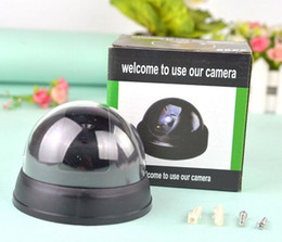security camera packages NZ - Dummy Dome Surveillance Security Camera with LED Sensor Light Outdoor Fake Camera For Home Security with Retail Package