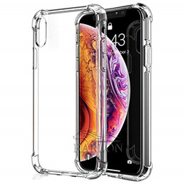Clear Protector Case Iphone Australia - Clear Soft TPU Case Crystal Transparent Slim Anti Slip Case Back Protector Case Cover for Apple iPhone Xs Max XR X 8 7plus 6S Plus