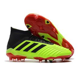 official photos 44091 c591a Adidas Predator 18.1 FG Soccer Shoes Nite Crawler Top Quality Mens Cleats  Outdoor Football Boots Blackout Prototype RARE Limited Edition