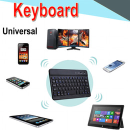 Thin mini lapTop online shopping - Bluetooth Keyboard inch Universal Ultra thin mini long lasting battery Bluetooth keyboard for PC iPad Laptop Android IOS Tablet XPT