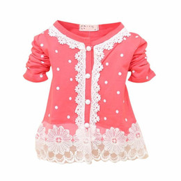 $enCountryForm.capitalKeyWord UK - 2018 New Spring Autumn Fashion Baby Girls Clothes Nice Lace Cotton Baby Coats Long-Sleeved O-Neck Dot Outerwear for Girls