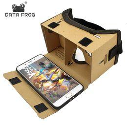 Lunettes de réalité virtuelle Lunettes en carton Google Lunettes 3D VR Box Movies pour iPhone 5 6 7 Smartphones Casque VR pour Xiaomi en Solde
