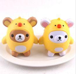 ChiCken handbag online shopping - Squishy Bear Chicken Soft Phone Charms Slow Rising Fun Gift Relieve Stress Toys Phone Charms Handbag Ring Pendant
