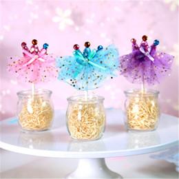 decor dress 2019 - Bulk Lots 4 Colors Princess Dress Crown Cupcake Topper Wedding Decoration Centerpieces Kitchen Accessories Home Decor Pa