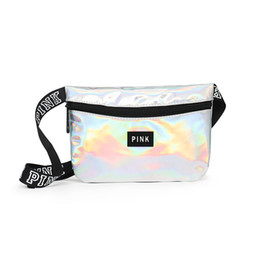 Pink letter Waist Bag Fanny Pack Hologram Laser Waterproof Translucent Shiny  Travel Beach Outdoor Bags 96366865f7fc