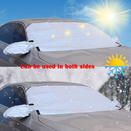Windshield shade for car online shopping - Car Front Windshield Snow Cover Sun Shade Protector With Two Anti Theft Ears Fits For Most Of Car With Size x39 Inch