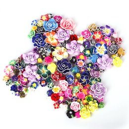 Polymer Bracelets NZ - 2017 New Polymer Clay Beads Flower Pieces Mix Color Fimo SlLoose Spacer Beads for Bracelet Making DIY Jewelry Findings