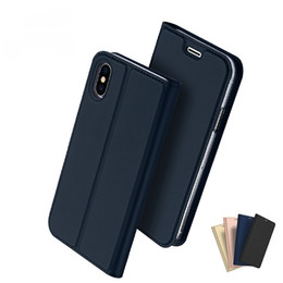 Chinese  Dux Ducis Skin Pro Slim PU Leather Card Pocket Flip Case For iPhone X 8 8 Plus 7 7 Plus 6 6s Plus manufacturers