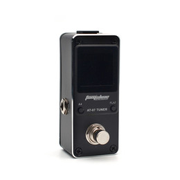 guitar tuner aroma NZ - AROMA AT-07 9V Black Mini Chromatic Tuner Effect Pedal Mini Single Electric Guitar Effects