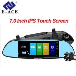 Rearview Screen NZ - Car DVR Full HD 1080P 7.0 Inch IPS Touch Screen Recorder Dual Lens with Rear View Mirror Auto Registrator Dash Camera