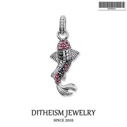 $enCountryForm.capitalKeyWord NZ - Koi Fish Karma Beads Pendant, 2018 Fashion Jewelry 925 Sterling Silver Trendy Gift For Women Girls Fit Necklace