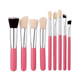 makeup brushes purpose UK - High Quality Multi-purpose 9pcs set Cosmetics Brushes Kit Soft Powder Foundation Eyeshadow Blush Contour Brush Set Makeup Tool