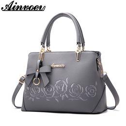Ainvoev 2018 New Europe fashion trend bag women handbag fashion shoulder bag  printing flowers crossbody female package a1834 cd535ef912