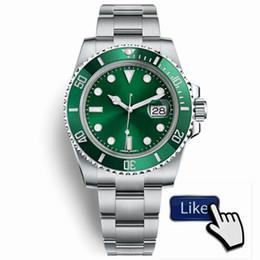 Orologio Ди Lusso Glide замок Застежка ремешок мужские AAA автоматические часы зеленые часы 116610lv Orologio Automatico наручные часы Orologi да Уомо