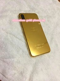 Hot Housing Australia - new and hot sale Gergous housing for iphone x 24ct 24k gold 8mu Full Housing Battery Door for iPhone X style Housing replacement