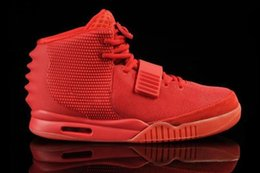 bfc462ca54cb1 2019 hot sale Designer Shoes Kanye West 2 Basketball Shoes for Mens luxury  Sports shoes Red October Training Sneakers Size 40-47 zfmall