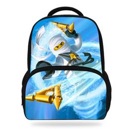 14Inch Cool Cartoon Backpack Bag For Kids School Ninja Batman print Backpack  For Children Girls Boys Soft Bag Y18100805 8a51dd9a82514