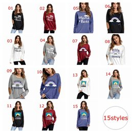 $enCountryForm.capitalKeyWord NZ - Female Elbow Patch Loose Tops Tee Shirt Women Mama Bear Letter Print Round Neck Casual Top Women Color Block Long Sleeve T Shirt