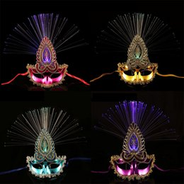 $enCountryForm.capitalKeyWord Australia - 2018 NewFlashing Butterfly Mask Light LED Optical Fiber Masks For Girls Woman Dress Up Ball Masks Halloween Dance Party Supplies