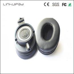 Toptan satış Linhuipad siyah Kulak Pedleri Ses-Technica ATH-MSR7BK ATH-MSR7GM için Yedek Kulak Yastıkları ATH-MSR7NC M50X M20 M40 M40X SX1 kulak ...