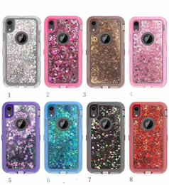 cell phone defender 2019 - Glitter Cell Phone Cases Cover For Samsung S7 S8 S9 S7edge Note9 Note8 iPhone 6 6s 7 8Plus X XR Waterproof Defender Case