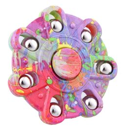 $enCountryForm.capitalKeyWord UK - Camouflage Hand Spinner Seven Flap Plastic Iron Hand Spinner Steel Bearing For Autism ADHD Anxiety Stress Toy