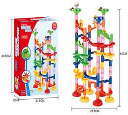 China 6 Styles 29- 105PCS DIY Construction Marble Race Run Maze Balls Track Building Blocks Children Gifts For Baby suppliers