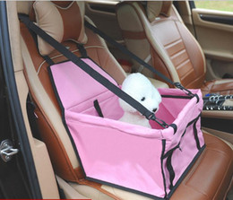 Dog Carrier Cover Canada - Wholesale Pet Car Seat Cover Waterproof Puppy Basket Anti-Silp Pet Car Carrier Dog Cat Booster Outdoor Travel vehicle Seat Pet Protector