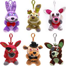 Discount movie night gift - 10 Style 15cm-18cm Five Nights At Freddys plush dolls New Soft Stuffed Bonnie Foxy Fazbear Bear Cartoon Toys Kids Birthd