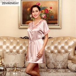 64ee5429ec 2017 Summer Short Sleeve Nightwear Dress Satin Silk Nightdress Short Sexy  Nighty Women Nightgown Women Nightwear Sexy Sleepwear