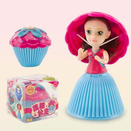 Cupcakes Toppings Australia - top selling Cupcake Scented Princess Doll Reversible Cake 12 Roles 6 Flavors Magic Toys for Girls oth262
