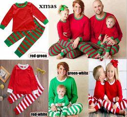 6dc1306b38 Retail Xmas Kids Adult Family Matching Christmas Deer red white green Striped  Pajamas Sleepwear Nightwear Pyjamas bedgown sleepcoat nighty