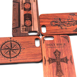 handmade wood phone cases Canada - Fashion Style Wood Engraved Wood Phone Cases For Iphone 7 plus 8 6 6s X 10 5 5s 100% Wooden Bamboo Handmade Cellphone Cover Case For Samsung