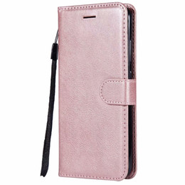 Funda billetera para Xiaomi Redmi Note 5A Flip Back Cover Pure Color PU de cuero bolsas de teléfonos móviles Coque Fundas para Redmi Note 5A