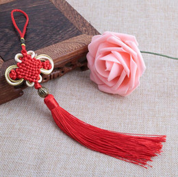 $enCountryForm.capitalKeyWord NZ - DIY accessories Chinese style household decorate gifts Pure handmade gold edge Bianfu your Chinese knot pendant free shipping FD10