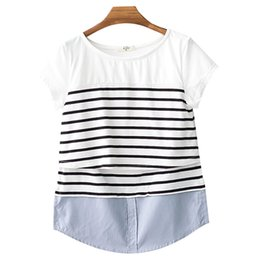 NursiNg wear cottoN online shopping - Breastfeeding Nursing Tees Tops Maternity Clothes Breast Feeding Top Pregnancy T Shirt For Pregnant Women Clothing Mother Wear Summer