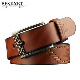 $enCountryForm.capitalKeyWord Canada - Best YBT Men Pin buckle leather Belt casual retro threading men Alloy buckle Belt selling fashion cowboy Antique pants Belt