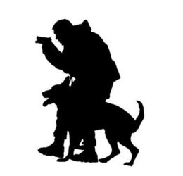 blue police car UK - Car window decal truck outdoor sticker police search and rescue dog animal personality creative