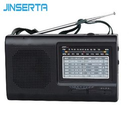 Wholesale JINSERTA FM SW MW Radio Multi Band Radio Receiver High Sensitivity Support Battery AC power supply