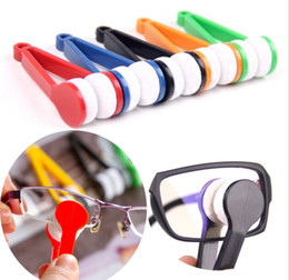 wholesale eyeglasses cleaner Australia - 10 PCS Sun Glasses Eyeglass Microfiber Brush Cleaner Eye Glass Sunglasses Lens Cleaning Wipes Cleaner