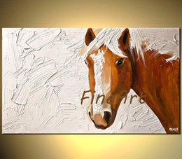 Painting Good NZ - hand-painted good quality palette knife art horse oil painting wall art home decoration modern unique gift Kungfu Art