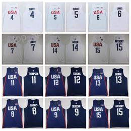 China 2016 US Dream Twelve Team Jerseys Basketball 4 Stephen Curry 5 Kevin Durant Kyrie Irving DeMar DeRozan Klay Thompson Paul George National cheap jersey dream team suppliers