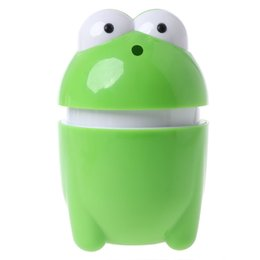 Plastic Toothpick Wholesale Australia - Automatic Frog Shaped Toothpick Box Dispenser Bucket Table Accessories