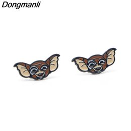 $enCountryForm.capitalKeyWord NZ - P2534 Dongmanli 20pair lot wholesale Gremlins Cartoon GIZMO Ear Stud Earrings For Womens Enamel pierce Earrings Jewelry