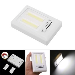 emergency lighting batteries 2019 - COB LED Switch Light Magnetic Cordless Under Switch Wall Night Lights With regulating Switch Battery Operated Cabinet Ca