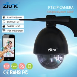 Wholesale ZILNK Speed Dome Camera PTZ Mini IP Camera P HD X Zoom Auto Focus mm Outdoor Wireless Wifi IR Onvif SD Card